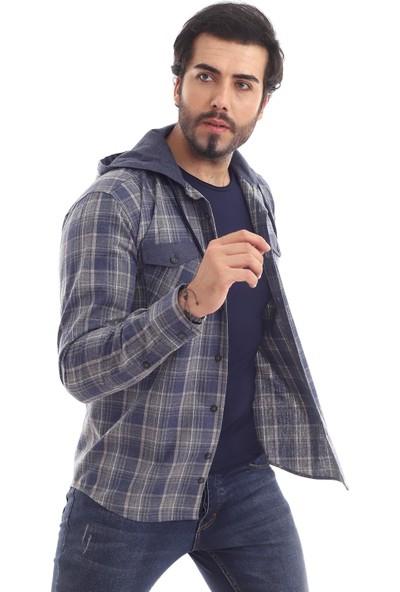 Altegro Oduncu Kapüşonlu Rahat Slim Fit Erkek Gömleği