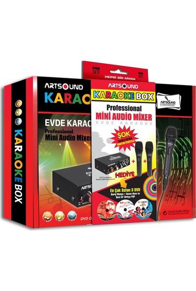 Artsound Karaoke Mikrofon Eğlence Paketi (Audio Mixer+Çift Mikrofon+3 DVD)
