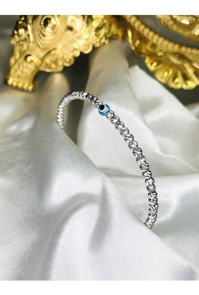 Selens Dorica Kelepçe Gümüş Bileklik