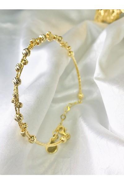 Selens Altın Sarısı Dorica Kelepçe Gümüş Bileklik
