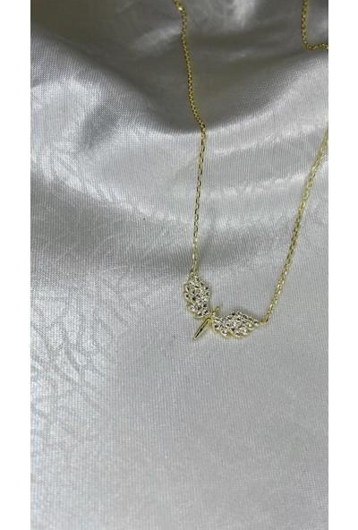 Selens Mikail Meleği Minimal Gümüş Kolye