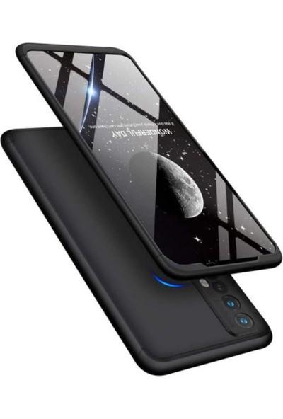Case 4U Oppo Realme 7 Kılıf 360 Derece Korumalı Tam Kapatan Koruyucu Sert Silikon Ays Arka Kapak Siyah
