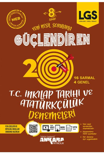 Ankara Yayıncılık 8. Sınıf T.c. Inkılap Tarihi ve Atatürkçülük Güçlendiren Denemeler