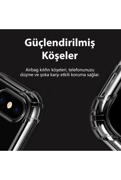 Fibaks Samsung Galaxy M31S Kılıf Antishock Köşe Korumalı Darbe Emici Şeffar Sert Silikon Şeffaf
