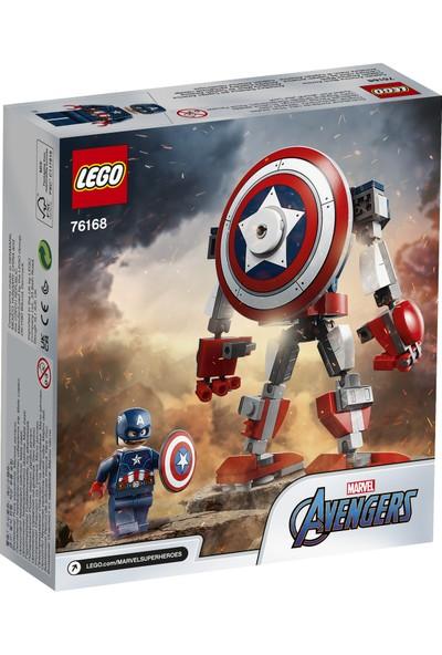 LEGO® Marvel Avengers Klasik Kaptan Amerika Robot Zırhı 76168 - Koleksiyonluk Siper Kahraman Oyuncak Yapım Seti (121 Parça)