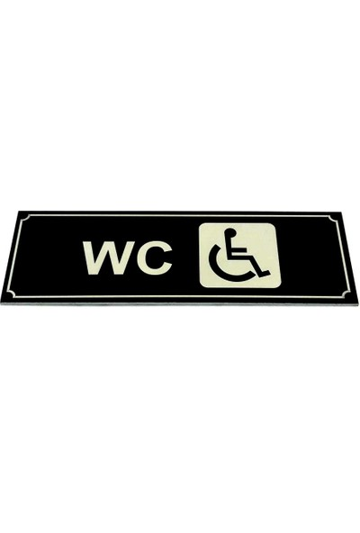 Se-Dizayn Wc Tuvalet Tabelası Engelli Kapı Yönlendirme Levhası 5 cm x 15 cm
