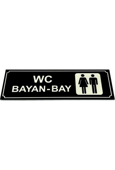 Se-Dizayn Wc Tuvalet Tabelası Bayan Bay Yönlendirme Levhası 5 cm x 15 cm