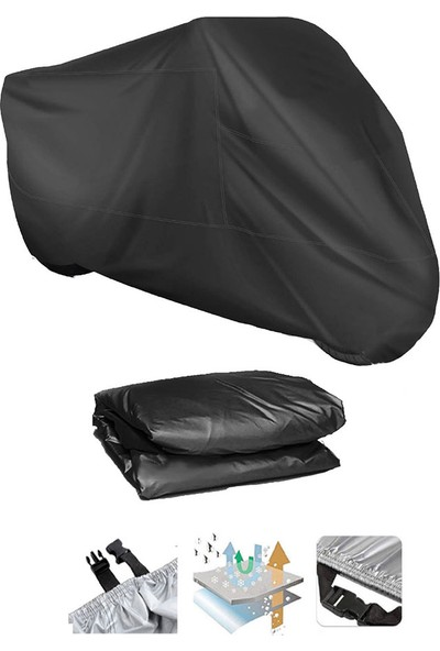 Coverplus Triumph Tiger 900 Gt Pro Motosiklet Brandası Motor Branda - Siyah