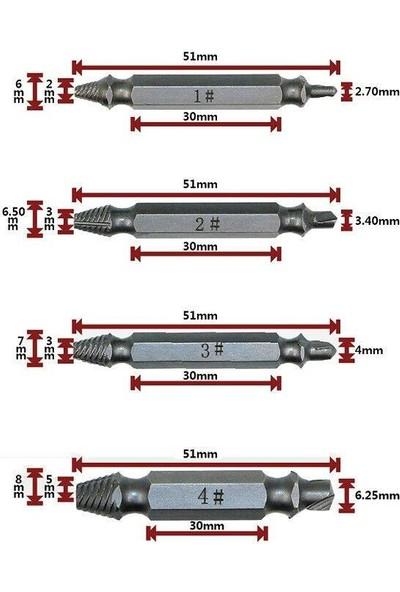 Speed Out 153ROX0070 4 Parça Hasarlı Vida Çıkarıcı Sökücü