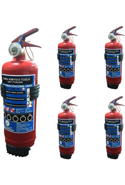 Yangın Tupu 1kg 5 Adet 2020 Uretım 2024 Tekrar Dolum Askı Aparatı Hedıyelı