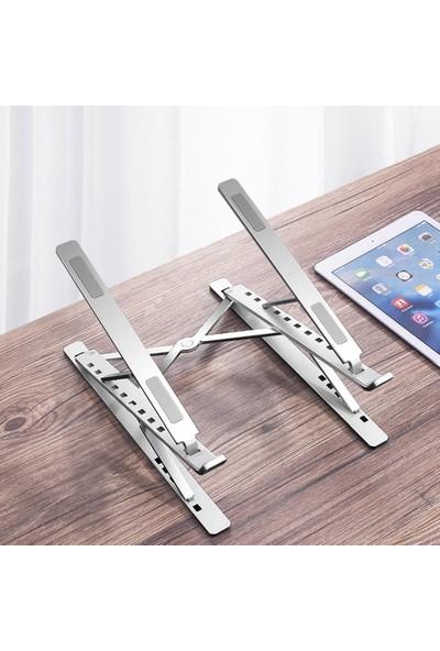 iDock N8 Çift Taraflı Ayarlı Katlanabilir Alüminyum Laptop Standı