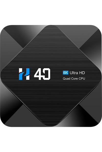 Auvc H40 Android 10.0 Smart Tv Box Allwinner H616 Dört Çekirdekli 64G (Yurt Dışından)