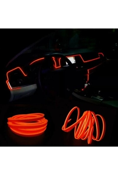 MFK Renault 9 Araç Içi Turuncu Torpido Ledi - Ip Neon