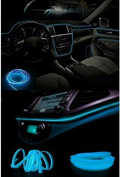 MFK Peugeot Eski Partner Araç Içi Mavi Torpido Ledi - Ip Neon