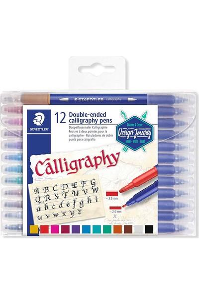 Staedtler Calligraphy Pen Çift Taraflı Kaligrafi Kalemi Seti 12 Renk