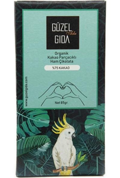 Güzel Gıda Organik Parçacıklı Çikolata Bar %75 85 gr