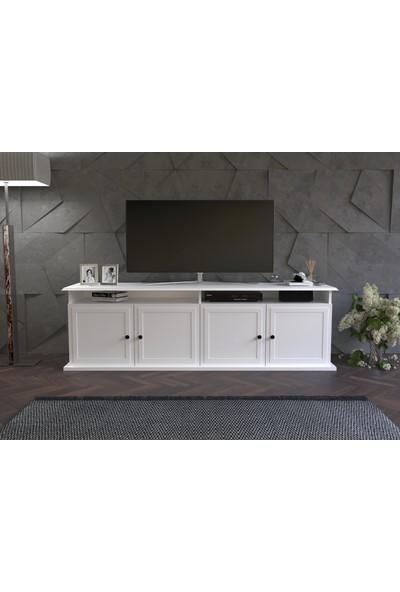 Tocco Astoria Lüx Tv Ünitesi Beyaz