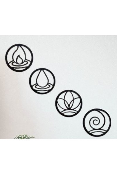 Omart Design 4 Element Metal Duvar Aksesuarı
