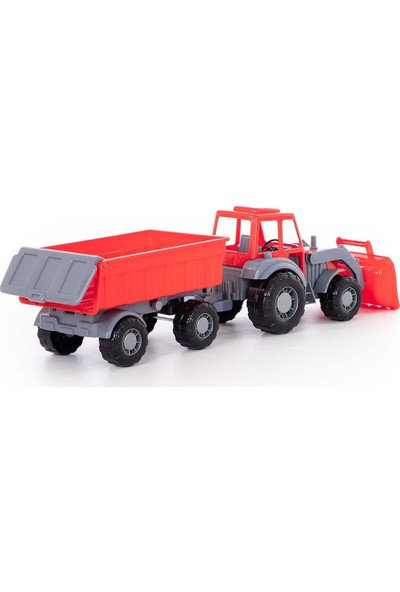 Polesie Kepçeli Römorklu Traktör Kırmızı