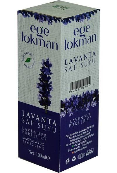 Ege Lokman Doğal Lavanta Saf Suyu Makyaj ve Yüz Temizleme 100 ml Spreyli Cam Şişe