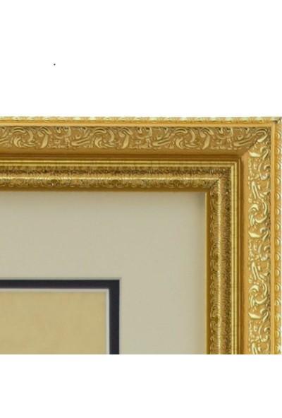 Maşallah Hat Sanatı Özgün Temalı 28 x 23.5 cm Tablo
