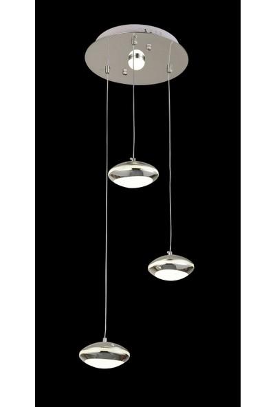 Luna Lighting Modern Luxury Sarkıt 3'lü LED Avize