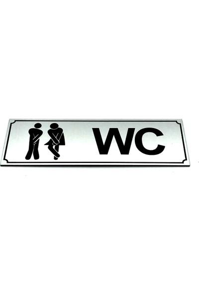 Se-Dizayn Wc Tuvalet Tabelası Bay Bayan Komik Kapı Levhası 5 cm x 15 cm