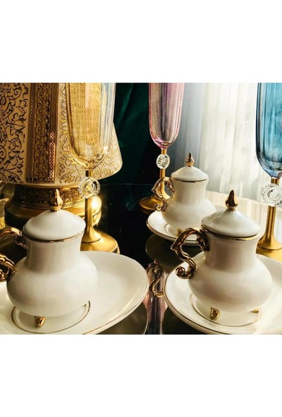 Lejon Home Arow Porselen Lüx Türk Kahve Fincan Takımı 6lı TR-1888