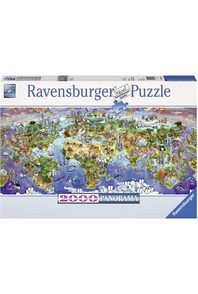 Ravensburger 2000 Parça Dünya Harikaları Panorama Puzzle