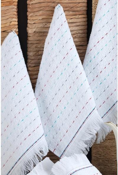 Riva Elegance 6'lı 70 x 140 cm Banyo Havlu Seti