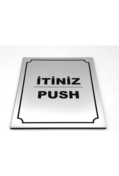 Se-Dizayn Itiniz Push Kapı Yönlendirme Tabela 10 cm x 12 cm