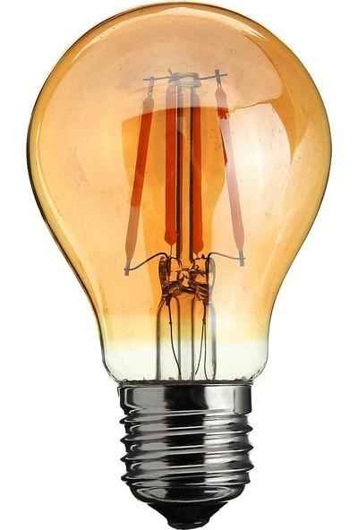 Heka ERD37 A60 Standart Tip Edison Flamanlı Rustik LED Ampul 6 Watt