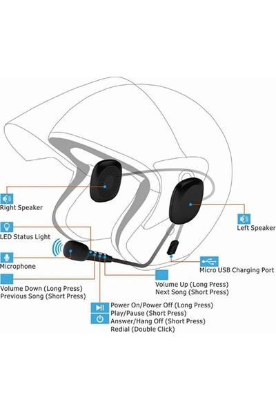 Ally T2 Motosiklet Kask Için Kulaklık Bluetooth 5.0 + Edr AL-33393