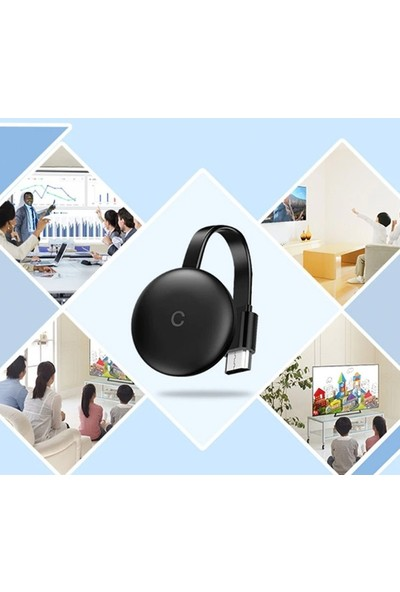 Ally G12 Chromecast Kablosuz Wifi HDMI Ses ve Görüntü Aktarıcı 1080P Dongle AL-33380