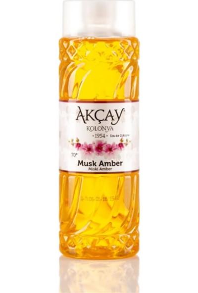 Akçay Plastik Şişe Miski Amber Kolonyası 400 ml
