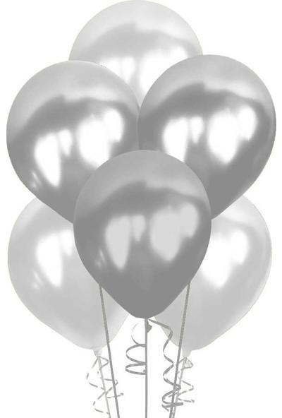 Asmet Balon Metalik Gümüş 12Lİ