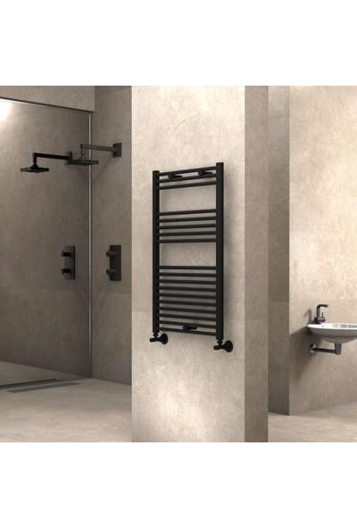 Radiva Banyo ve Mutfak Için Havlupan 600X1000 Düz Mat Siyah
