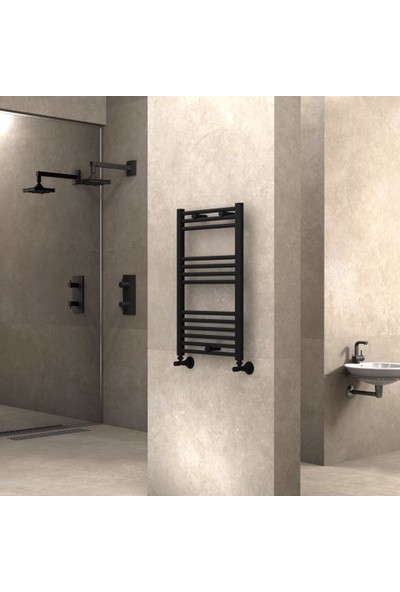Radiva Banyo ve Mutfak Için Havlupan 500X800 Düz Mat Siyah