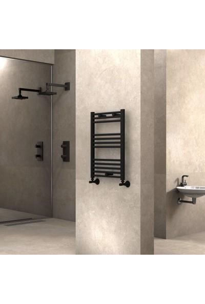 Radiva Banyo ve Mutfak Için Havlupan 500X700 Düz Mat Siyah
