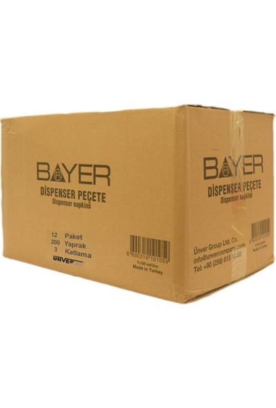 Bayer Dıspenser 3 Katlı Pecete 18 x 200 Yaprak Toplam 3600 Yaprak