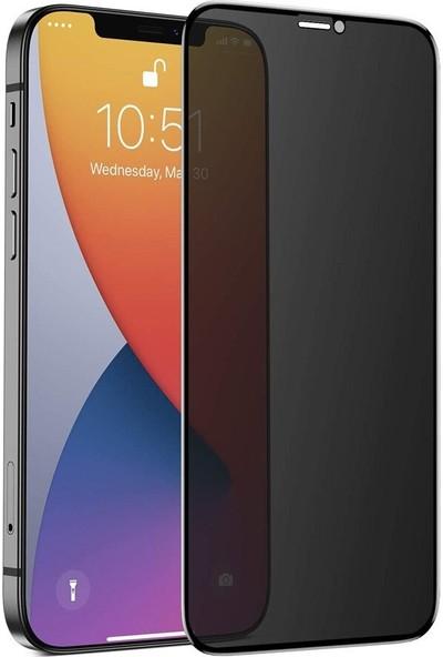 Teleplus Apple iPhone 12 Pro Max Hayalet Privacy Gizli Tam Kapatan Cam Şeffaf