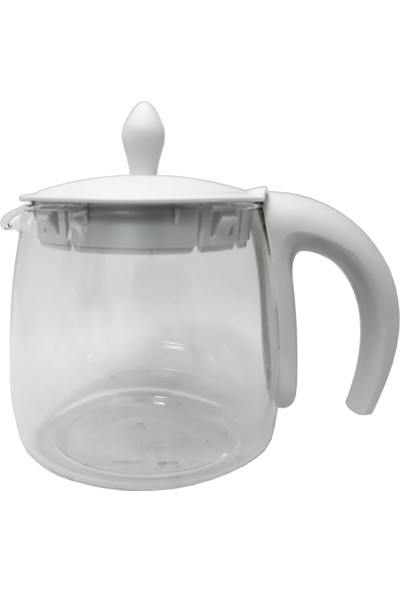 Arçelik K 3282 C Çaycı Çay Makinesi Uyumlu Beyaz Cam Demlik (Filtresiz)