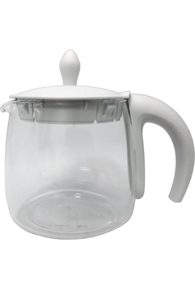 Arçelik K 3283 C Tiryaki Çay Makinesi Uyumlu Beyaz Cam Demlik (Filtresiz)