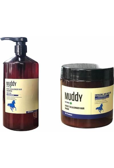 Muddy Horse Tail Şampuan 1000 ml + 500 ml Maske Sağlıklı ve Hızlı Uzamaya Yardımcı Set