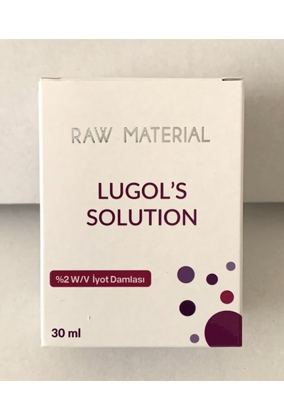 Raw Material Lugol's Solution %2 İyot
