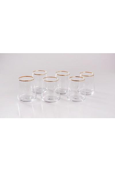 Bambum Stella Plus - 6'lı Meşrubat Bardağı Altın - B1942