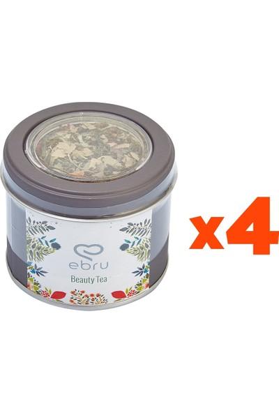 Chado Ebru Şallı Beauty Tea Güzellik Çayı 4'lü Set