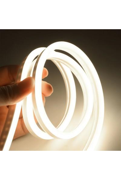 Atlantis Neon Hortum Işık LED Şerit Aydınlatma Aç Kapat Düğmeli 220 Volt Fiş Dahil Gün Işığı 5 m