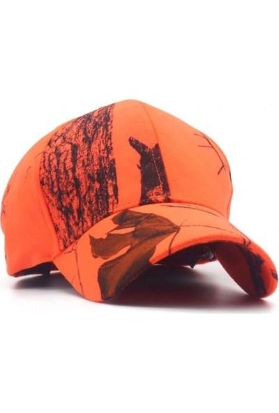 Spayko Ağaç Desenli Turuncu Şapka