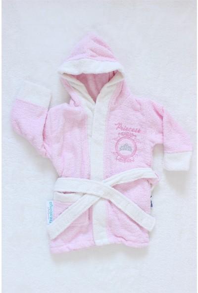 Miniworld Pamuklu Kız Bebek Pembe Bornoz